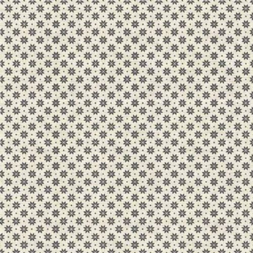 Makower Scandi Grey Mini  Snowflake Christmas Fabric